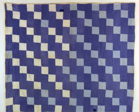 Blue-and-White Four-Patch Quilt