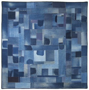 Betty Anne Guadalupe, Palette of Jeans, 2004, 73.5 x 73.5 in. Photo by Paige Vitek