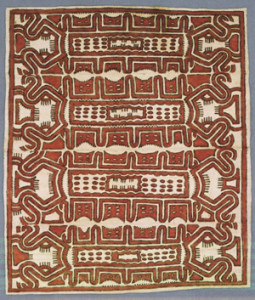 Vivian Gegewo, Tapa Painting (2004), Papua New Guinea. Collection of the Denver Art Museum, one of the works on view at the museum in Printed and Painted: The Art of Bark Cloth, through August 17.