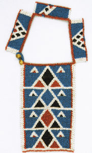 Beaded neck ornament, South Africa, Zulu, 19th to early 20th century. Worlds on a String (Textile Museum of Canada).
