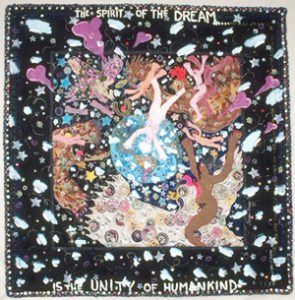 Therese May: The Spirit of the Dream (1999), 71 x 71 in.; studio art quilt. Photo by Richard Johns.