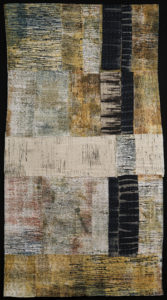 Judy Langille, Ancient Composite 1 (2015), 56 x 36 in. On view in Quilts=Arts=Quilts. Photo by Peter Jacobs.